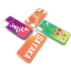 iPhone用ネオンサンドケース UVインクジェット印刷