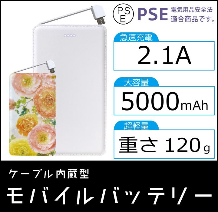 5000mAhモバイルバッテリー