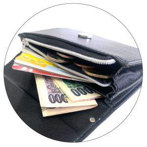 ファスナー付きミニ財布|汎用性の高いシンプルな構造