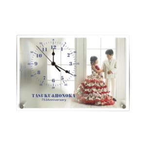 スタンドアクリル時計 印刷サンプル⑥