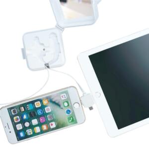 3 in 1 USBケーブル 2台のスマホに同時充電可能