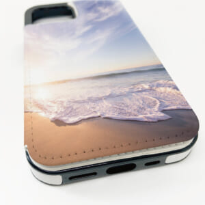 背面PUレザーiPhoneケース UVインクジェット印刷