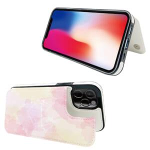 背面PUレザーiPhoneケース 自立式スタンド機能